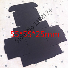 FJH006 50pcs/lot Foldable kraft paper box, Kraft gift box macaron black Size 55*55*25mm