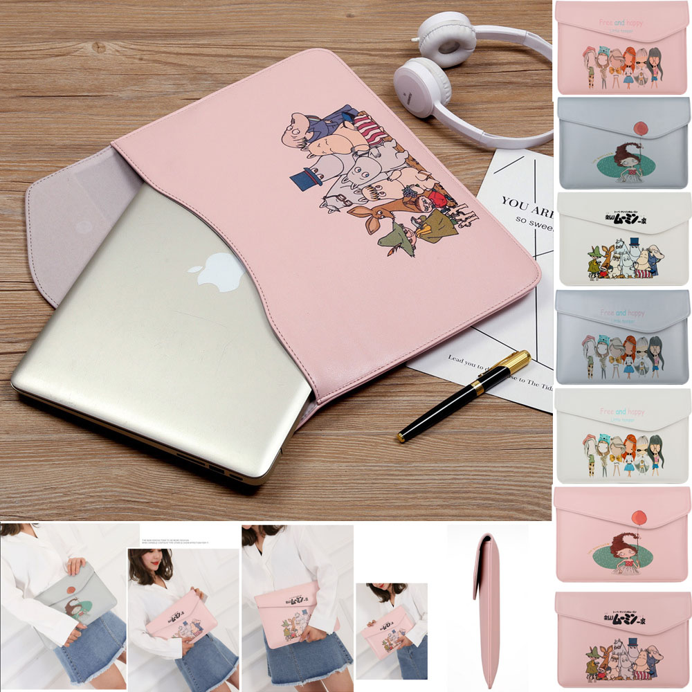 Thin Pu Leather Laptop Sleeve for MacBook Air Pro 13 Touch bar Bag Case Cover Mac 13.3 inch Notebook 14