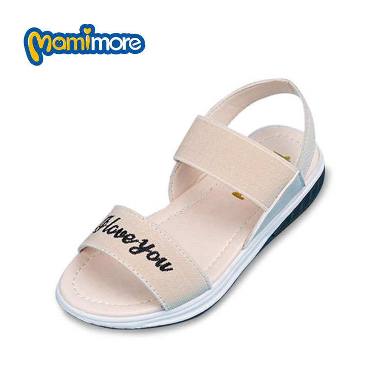 Mamimore Children S Sandals 2017 Summer Comfortable Light Girls Sandals Solid Color PU Soft Rubber Boys