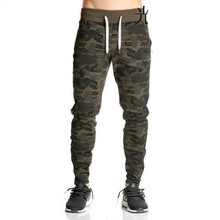 NEW 2019 Spring Autumn Harem Beam foot Camouflage elastic waist Drawstring Pants army Combat Muscle Joggers Trousers Men