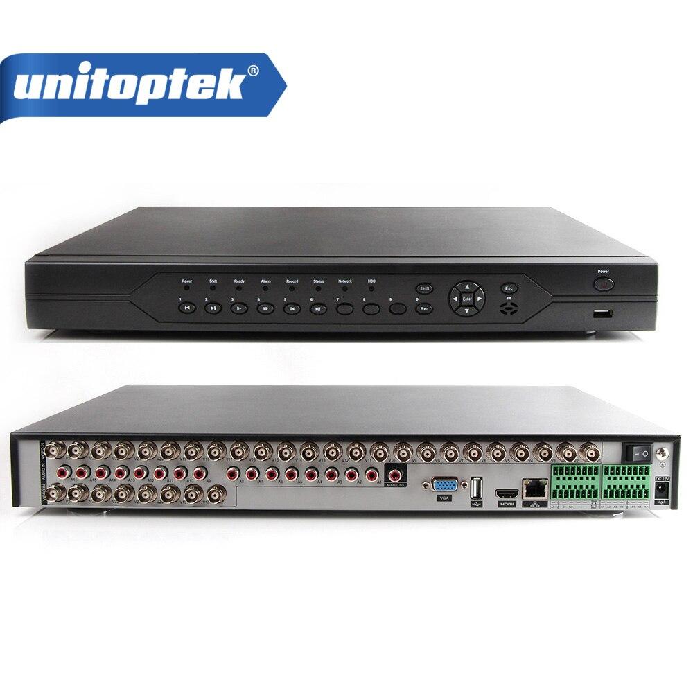 32Ch 1080N AHD CCTV DVR, 32Ch 1080 p NVR, 8Ch 1080N + 8Ch 960 p HVR 3 en 1 Enregistreur Vidéo Prise en Charge Maximale de 32 pcs Caméras De Sécurité D'AHD