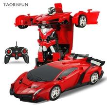2 в 1 Спортивные RC моделей автомобилей трансформации роботы дистанционного Управление деформации автомобиля RC роботы детей игрушки детские подарки на день рождения