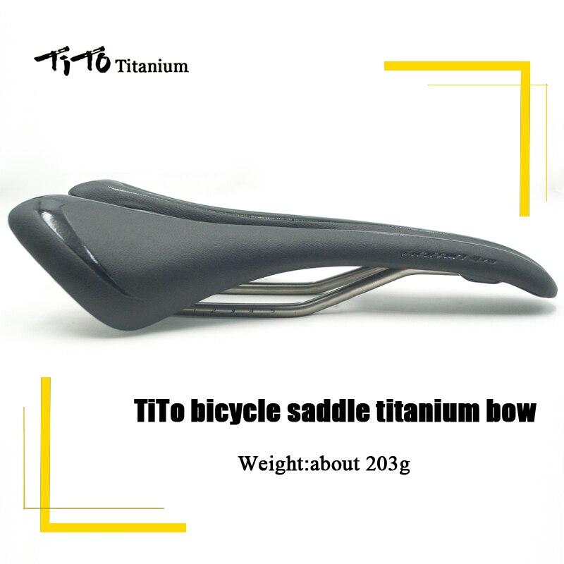 TiTo vélo selle titanium arc route/vtt MONTAGNE vélo vélo siège selle coussin vélo accessoires