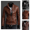 Hot!!!! Free shipping new men's leisure leather fashion men's leather coat of high quality three color size M - XXL
