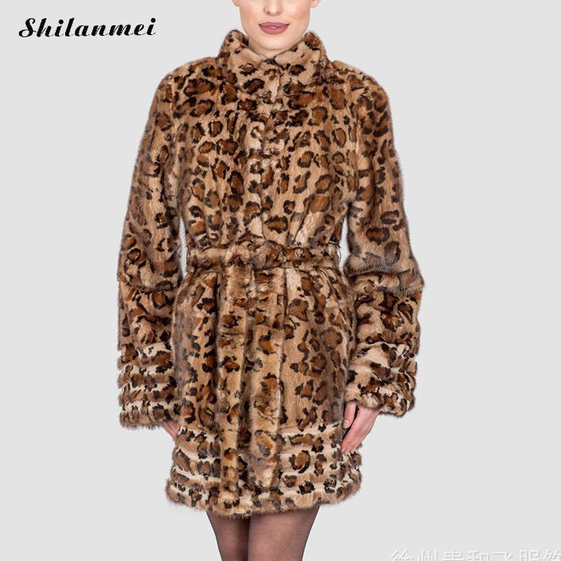 f0f4877ce6f 2017 Europe Fashion Women plus size Long Faux Fur Leopard Coat Pelliccia Women  Faux Fur Jacket Warm Outwear Casaco De Pele S 4XL-in Faux Fur from Women s  ...