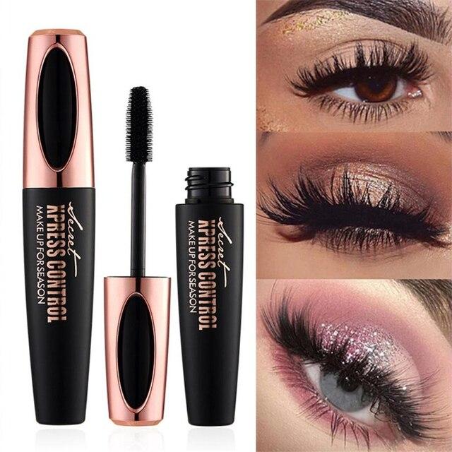 cbda4298581 Hot sales 4d Silk Fiber Lash Mascara Makeup Eyelash Mascara Eye Lashes  kyliejenner makeup Drop Shipping