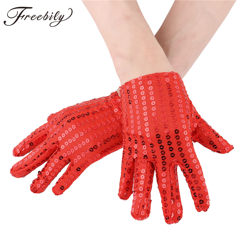High quality children's glove Evening Party Costume Gloves Sequined gloves Stage Show Halloween Birthday Xmas Party Kids Gloves