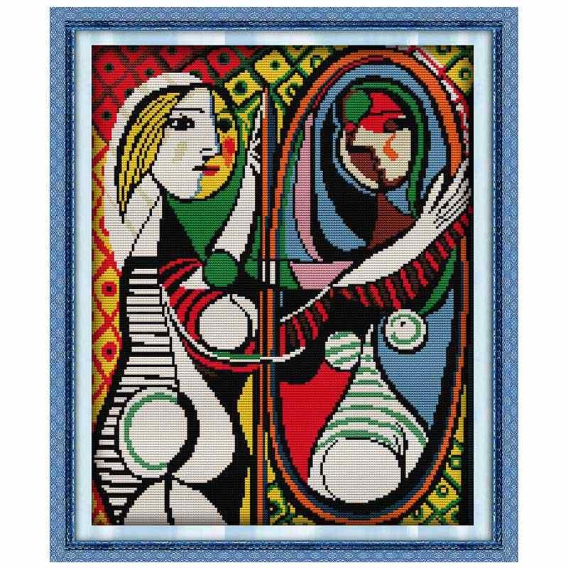 Picasso malowanie haft krzyżykowy 11CT 14CT zestaw do haftu krzyżykowego hurtownia DIY chiński zestaw do szycia haft robótki