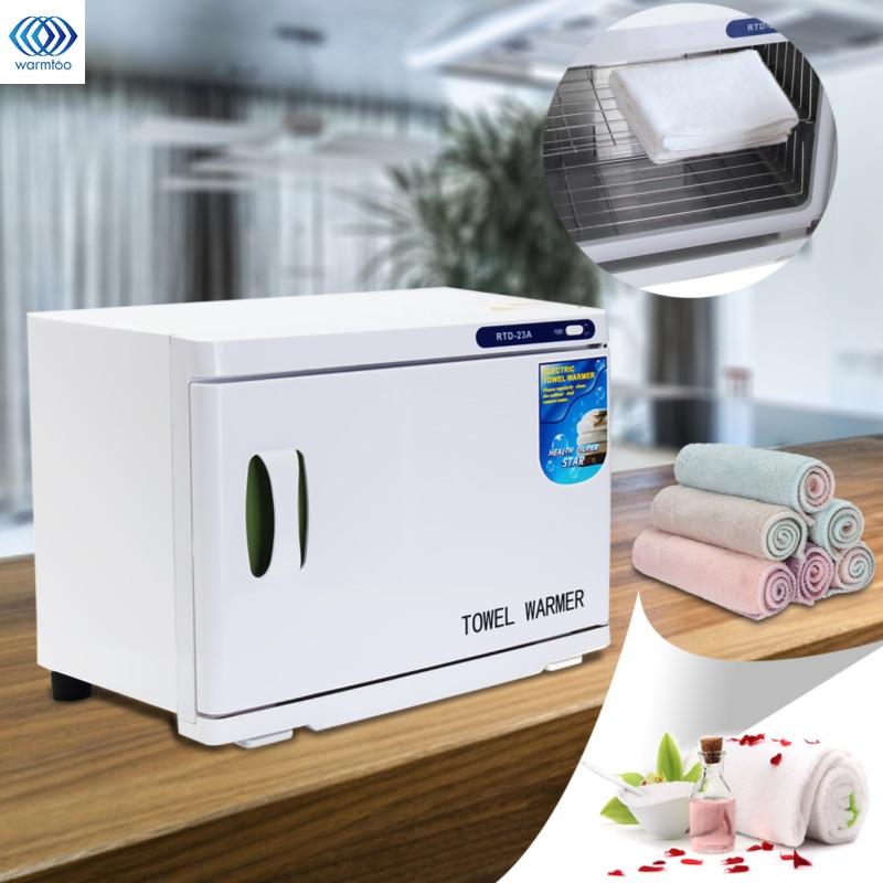 Electric Towel Warmer Towel Disinfection Cabinet UV Light Sterilizer Facial Salon Spa Towel Machine Hot Towel Cabinet 23L AU/US