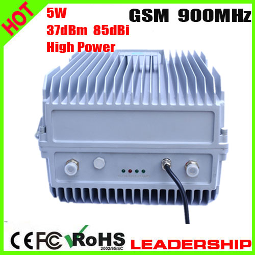 Free Shipping High Power GSM 900mhz 5Watts 37dbm 85dbi Cellular Mobile/cell Phone Signal Repeater Booster Amplifier Detector