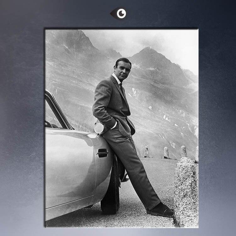 Sean Connery James Bond 007 Art Silk Poster 12x18 24x36