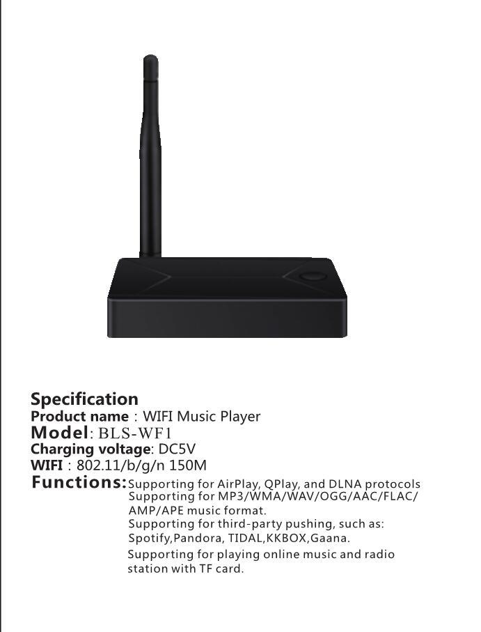 Wireless Wifi Audio Receiver DLNA Airplay Support Spotify Wireless Sound  Wireless Music Adapter