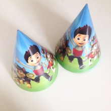 6pcs/lot Patrulha Pata Party Supplies Cap kids Birthday Decoration Baby Shower Patrulha Pata Party Supplies Cap