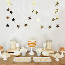 Foil Gold Star Garland Little Star Garland Christmas Garland for Baby Shower Wedding Birthday Party Decor недорого