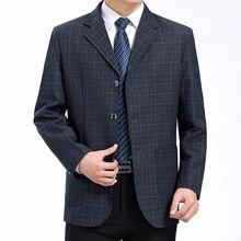 WAEOLSA Men Little Plaid Blazers Gris Suit Coats Man Check Pattern Blazer Hombre Business Outfits Male Jackets Spring Autum