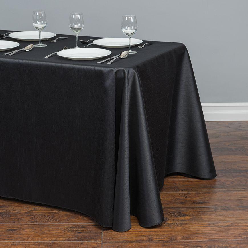 57x126 дюймов прямоугольная атласная Скатерть Белый/Черный скатерти покрытие стола для свадебной вечеринки Ресторан банкетные украшения