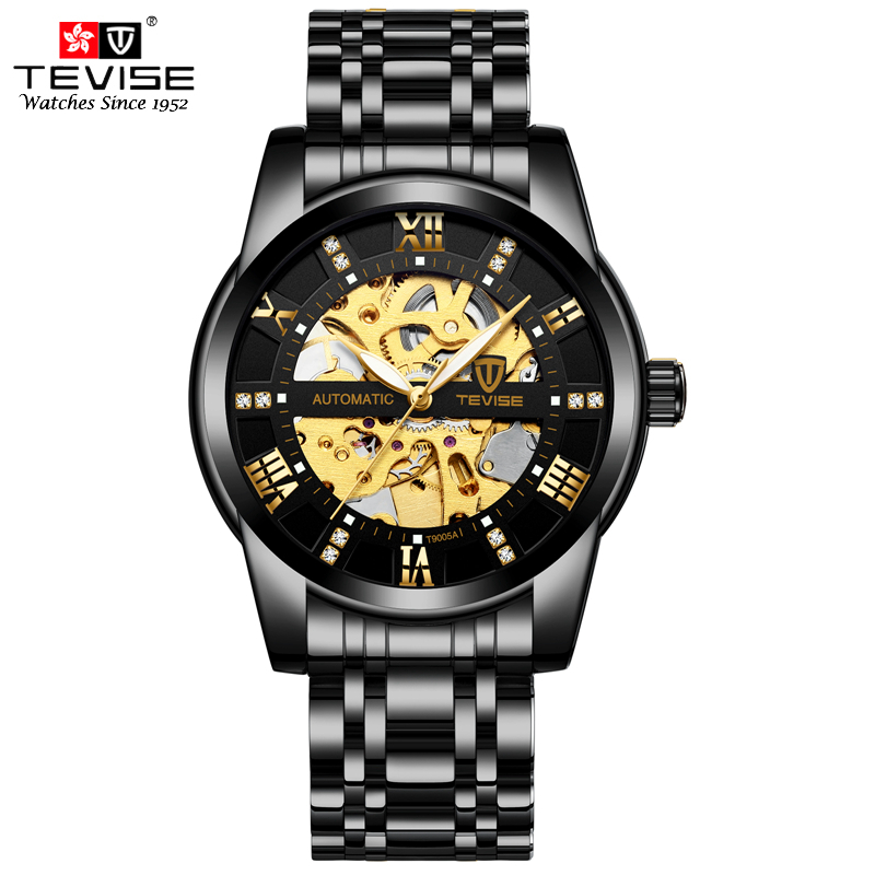 TEVISE Mens Luxury Watches Self Wind Wristwatch Man Mechanical Watches Automatic Watch Fashion Male Clock Relogio MasculinoTEVISE Mens Luxury Watches Self Wind Wristwatch Man Mechanical Watches Automatic Watch Fashion Male Clock Relogio Masculino