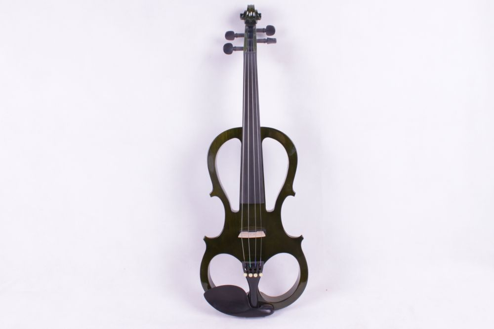 dark green color 4 String 4/4 New Electric Acoustic Violin #5 2518# i can make any color 4 string or 5 string