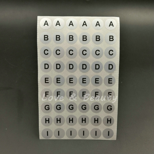 Round Alphabet Stickers