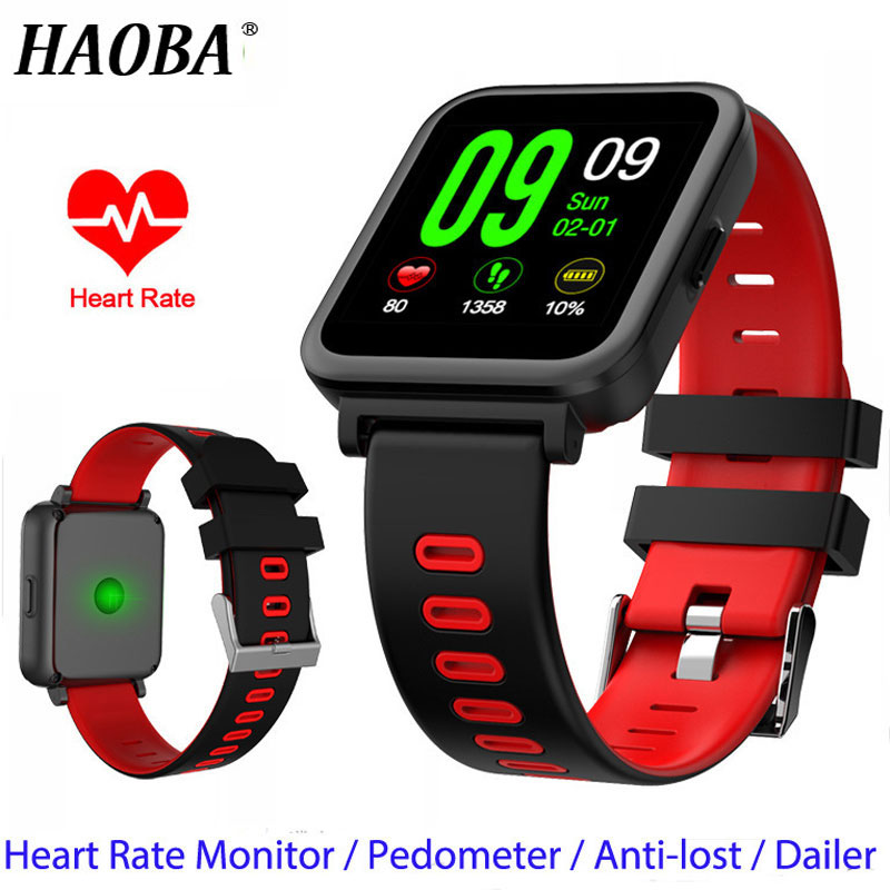 HAOBA Bluetooth Smart Watch Heart Rate Sleep Monitor Pedometer Fitness Smartwacth For IOS Android xiaomi huawei samsung phone стоимость