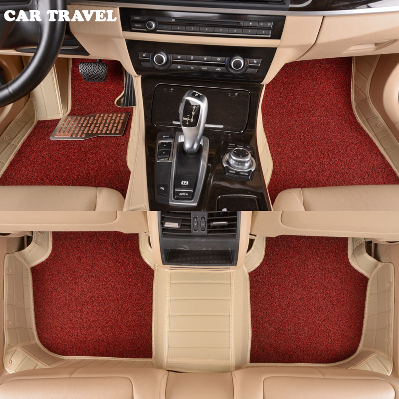 CAR TRAVEL Custom car floor mats for Bentley car styling carpet auto accessories auto Stickers accessories for dodge journey fiat freemont 7seats jc 2010 2017 2015 2016 inner floor mats foot pad car leather carpet kits