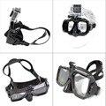 Mergulho máscara de mergulho gopro mount compatível go pro hero 1, 2, 3, 3 e 4 +, branco também edições para snorkel