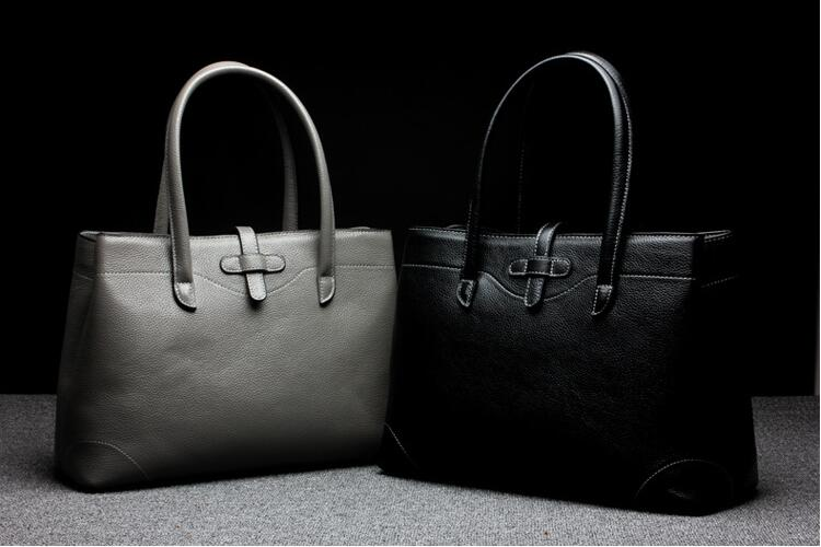2018 new women's genuine leather handbag first layer cowhide tote bag top handle bag high quality europe and the new spring and summer leather handbag bag simple cross head layer cowhide temperament mini bag tote bag
