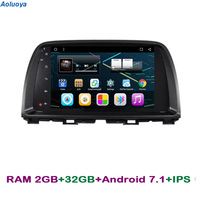 Aoluoya IPS RAM 2GB+32GB Quad Core Android 7.1 CAR Radio DVD GPS Player For MAZDA CX 5 CX 5 2012 2013 2014 video multimedia WIFI