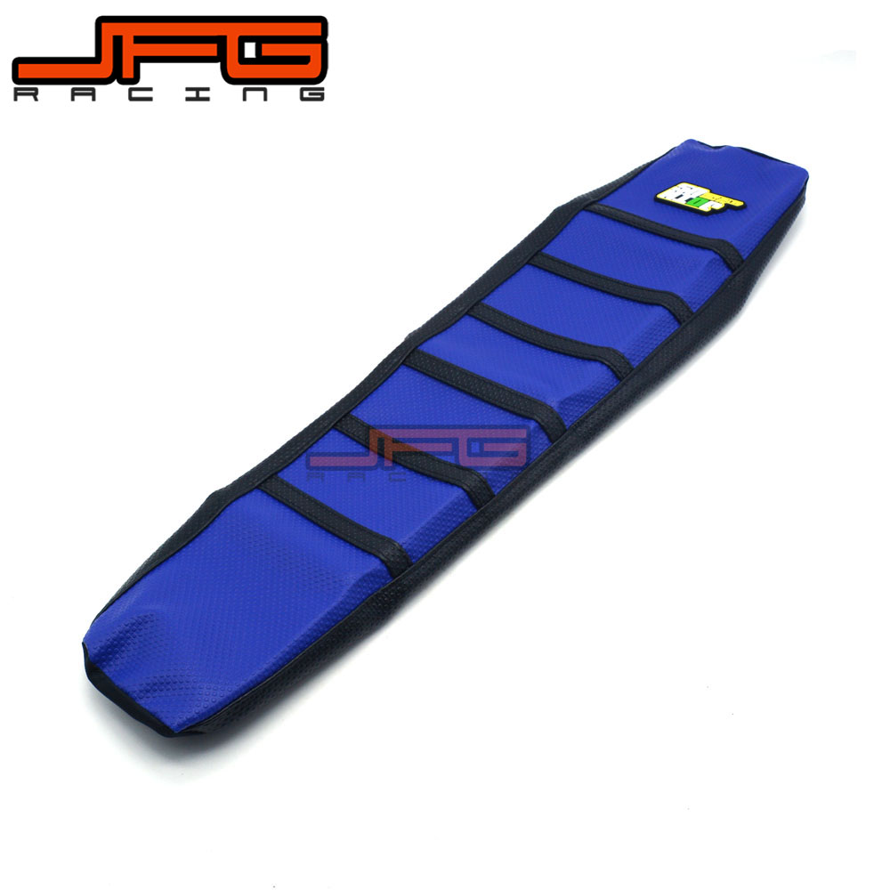 Ribbed Rubber Gripper Soft Seat Cover For Yamaha YZF YZF450 YZ450F 03 04 05 06 07 08 09 10 12 13 14 15 16 Motorcycle Enduro