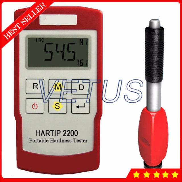 HARTIP 2200 Digital Handheld Leeb Hardness Tester Meter with Wireless Bluetooth Probe Metal Hardness Measuring Gauge