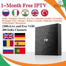 India Italy IPTV T9 Box 1 month IP TV Arabic Canada Italian Subscription Android Turkey Pakistan