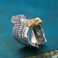 Vintage Fashion Style Eagle Cuff Ring Men 100% Solid Sterling Silver 925 Brief ring Men special Design Jewelry Cool Top Quality
