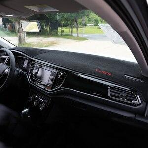 Image 2 - Car Dashboard Cover Mats Avoid light Pad Instrument Platform Desk Carpets Trim LHD For Volkswagen VW T ROC T ROC TROC 2017 2018