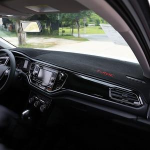 Image 2 - Garniture pour tableau de bord de voiture, tapis, pour éviter la lumière, pour Volkswagen VW T ROC T ROC TROC 2017 2018