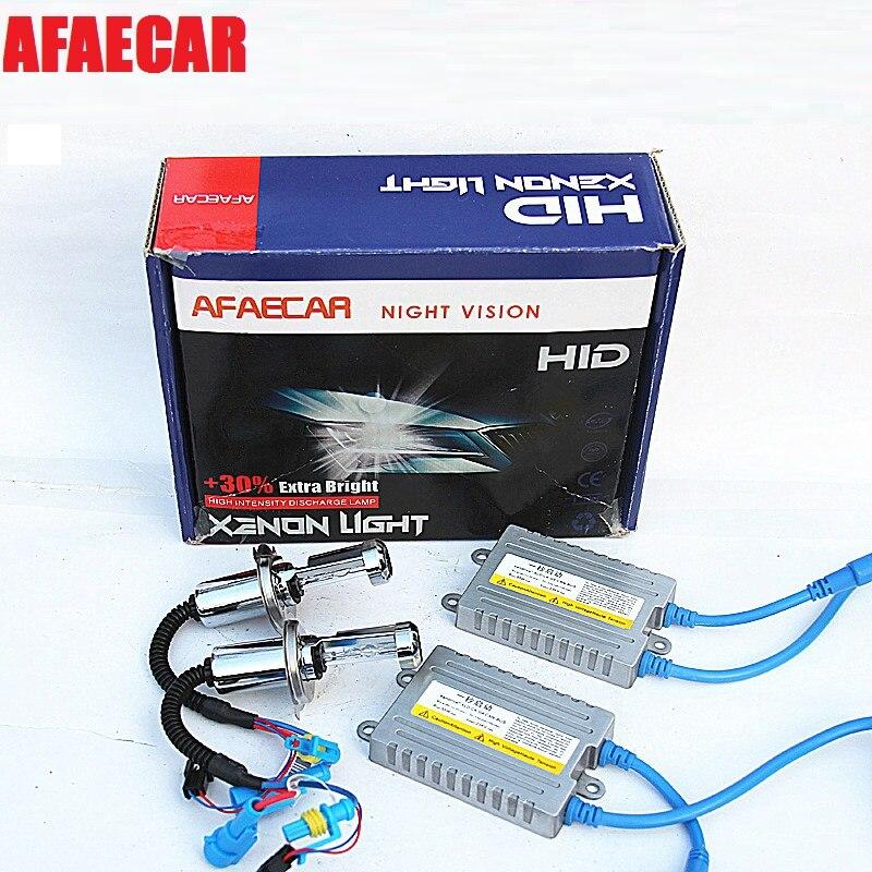 AFAECAR 55 W rapide lumineux 12 v 6000 k xénon kit h7 h1 h3 9005 9005 voiture hid phare