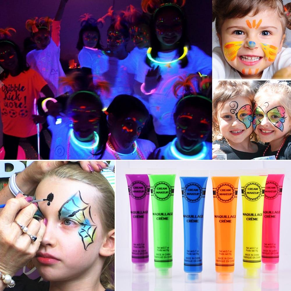 Paintglow Uv Neon Blue Lipstick Flourescent Lip Colour Make Up Halloween Party