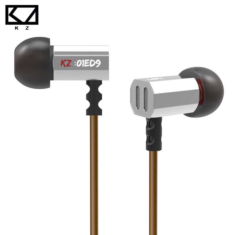 Hot Original KZ ED9 Super Bass In Ear Earphones HiFi Stereo Earbuds Noise Isolating Sport Headset Headphones with Mic for MP3 new original kz ate in ear earphones hifi metal stereo earbuds super dj bass noise isolating headset 3 5mm drive unit earbuds