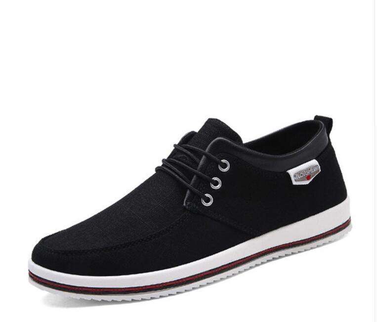 Haute Casual Hommes blue 1 Nouvelle Zapatos gray 2019 Respirant Toile black Espadrilles Dentelle up Chaussures Gray blue Hombre 1 Qualité wYqfItq