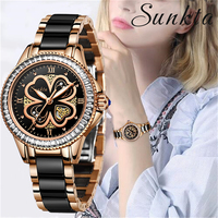 Japan Quartz Movement Women Watches Ceramic Stainless Steel Rose Gold Watches Women Casual sport Waterproof Watch Dropshipping