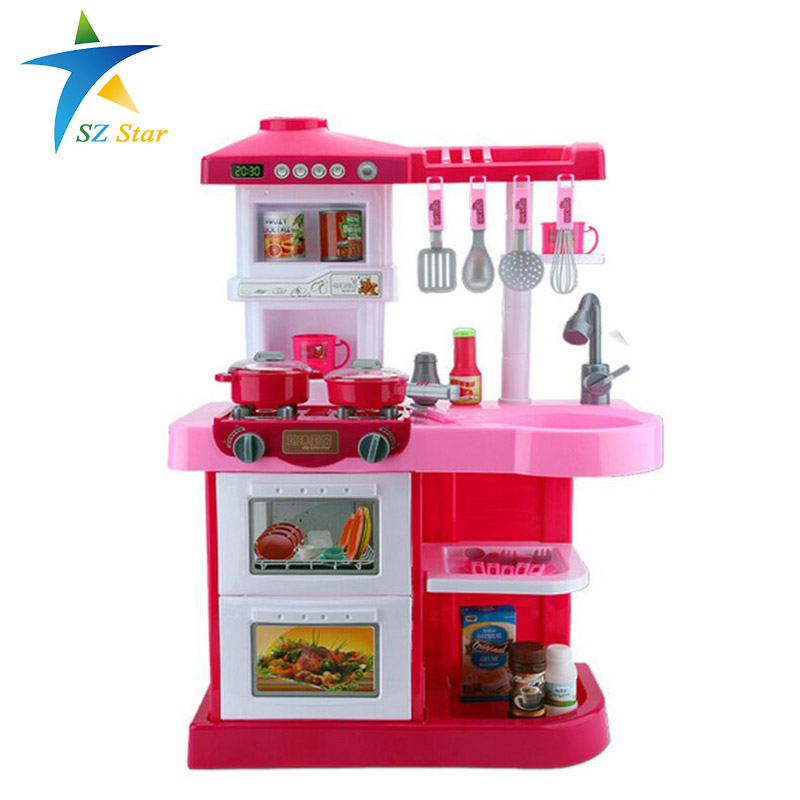 Simulation kitchen toys girls game playsets kitchen for for Kitchen set game
