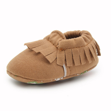 Delebao Cheap Price Baby Shoes Unique Soft Sole Tassel Style Design Pure Cotton Infant Toddler First Walkers
