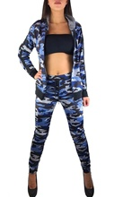 ZOGAA 2019 Spring  Women Two Piece Outfits Tracksuit Camouflage Silm Fashion Sexy Joggers Suit Sets Sweat Set
