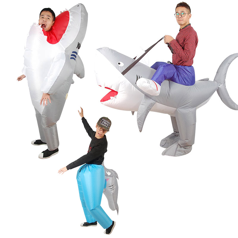 inflatable shark costume for adult, party costume, carnival suit, festival cloth