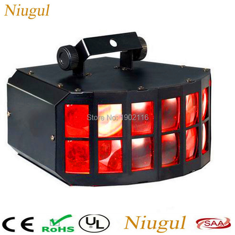 Free shipping RGBW LED Double Butterfly 4in1 LED stage effect lights Party Disco DMX512 led Stage Lamp DJ Equipment ktv lights co2 handhold cannon dj co2 gun for wedding party stage effect lights handhold stage co2 gun with 6meter hose