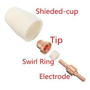 Image 4 - 75 pièces accessoires de coupe Plasma pour torche de coupe consommables KIT électrodes embouts buses ajustement CUT40 CUT50