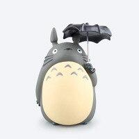 Trasporto Libero Sveglio Del Fumetto Del Anime Totoro con L'ombrello Boxed Action PVC Figure Collection Model Toy Banca Dei Soldi Piggy Bank Bambola