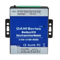 DAM112 Modbus RTU IO Module 4 Digital Inputs Controlling 4 Digital Relay Output Repeater Extensible Modules For S27X MXX Seris