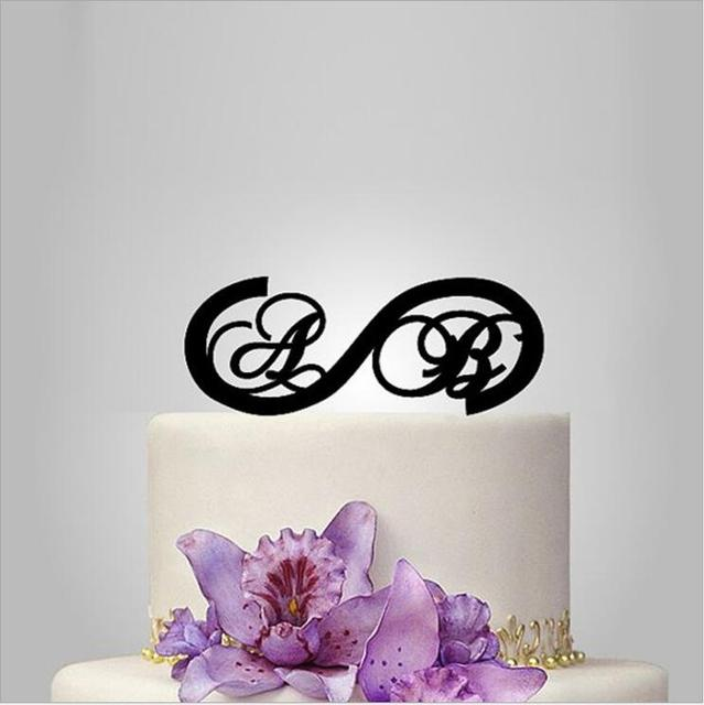 personalized custom initial wedding cake topper with monogram symbol unique letter design cake toppers for