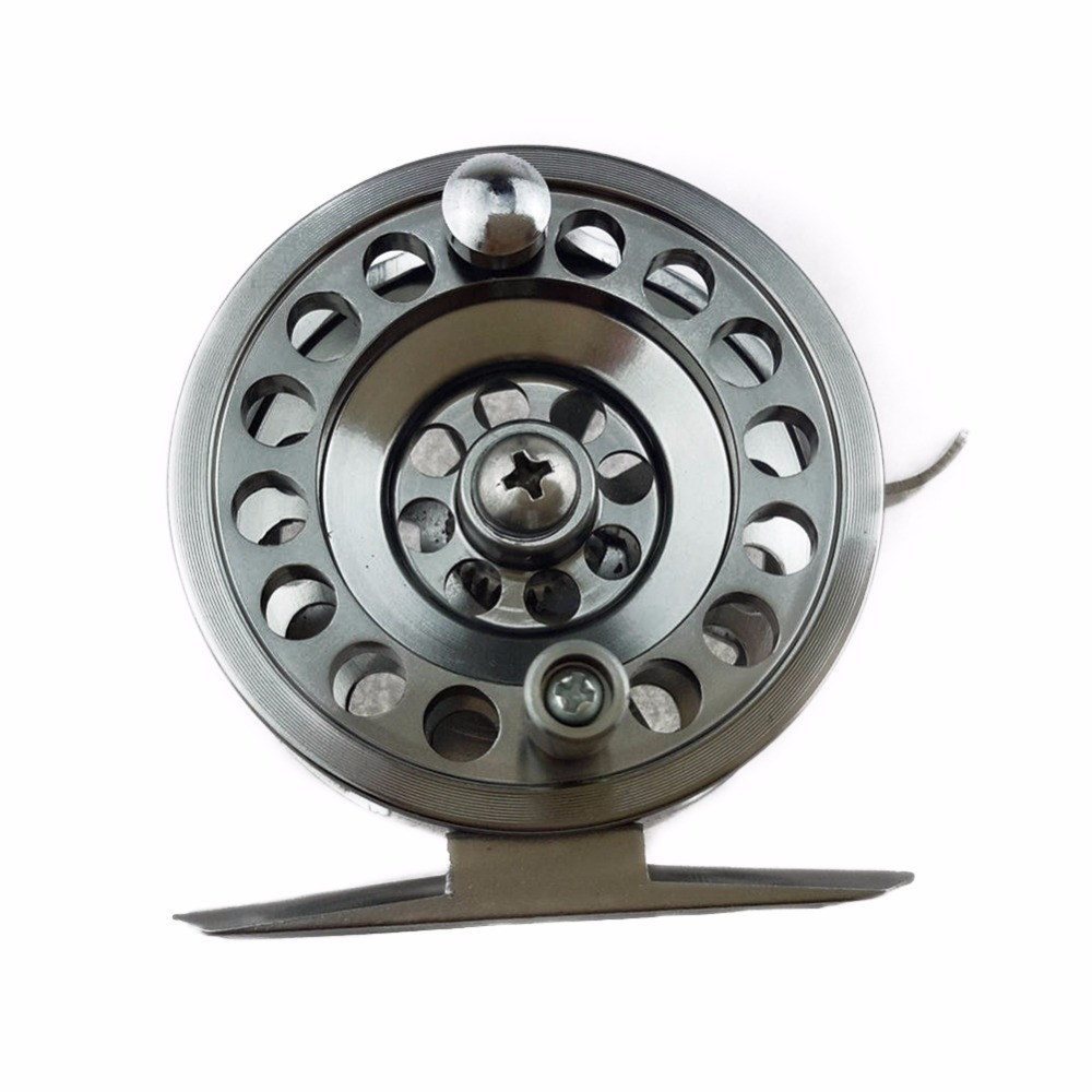 LumiParty All Metal Fishing Reel Right Hand Rocker With Brake 60M Line Capacity