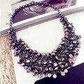 Lemon valor gargantilha declaração encantos colar borlas pingentes steampunk do vintage maxi colares de cristal mulheres jóias collier g034